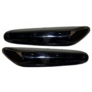 For BMW 1 Series E81 E87 E82 E88 3 Series E90 E91 Crystal Black Side Repeater