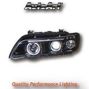 For BMW X5 E53 98-03 Black Angel Eye Projector Headlights Lighting Lamp