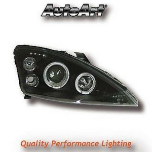 Black Projector Angel Eye Headlights For Ford Focus Mk1 Pre-Facelift 98-09/01