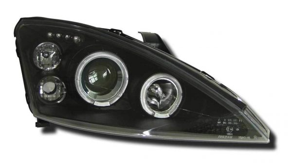 Black Projector Angel Eye Headlights Lamps For Ford Focus Mk1 Facelift 10/01-04