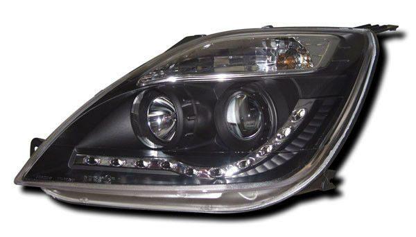 Black DRL Devil Eye Headlights Lighting Lamp For Ford Fiesta Mk 6 02-07