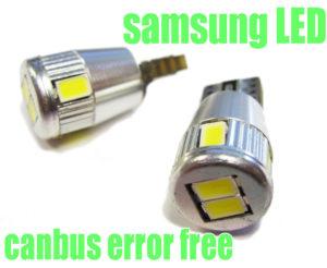 6SMD Samsung LED Canbus Error Free 501 W5W T10 194 Sidelight Bulbs Xenon White