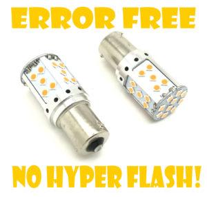 Canbus 581 Py21W 12V Cob High Power LED Amber Yellow Orange Indicator Bulbs