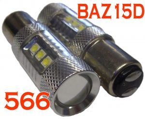 Baz15D 566 21W/4W 80W Cree High Power LED Bulbs Lighting Replacement Pair Red