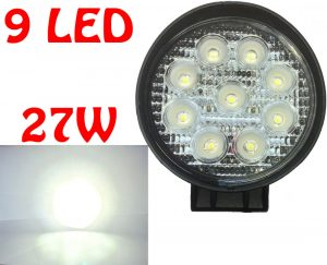 12V / 24V 27W 11cm 9 LED Work Light 4X4 Truck Off-Road Spot Lamp Lighting Part
