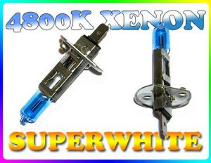 Pair 55W H1 Superwhite 4800K Xenon Headlight Bulbs Headlamp Replacement Part