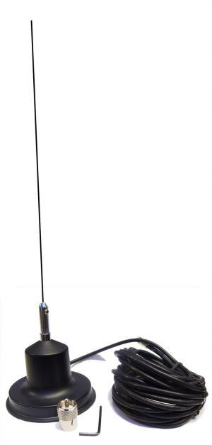 Magnetic Mount Cb Radio Antenna Ariel Mag With Mast Whip Exterior Body Part