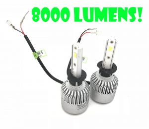 H1 100W COB LED HEADLIGHT BULBS KIT 8000 LUMENS 12-24V CANBUS ERROR FREE