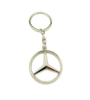 Logo Emblem 3D Key Ring Fob Xmas Gift Keychain Metal Chrome For Mercedes Ponton