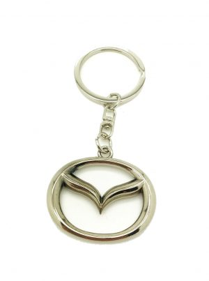 Logo Emblem 3D Key Ring Chain Fob Xmas Gift Keychain Metal Chrome For Mazda CX-7