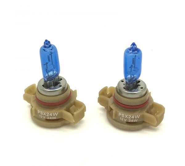 Pair H16 Ps19W 5000K Xenon White Bulbs Lamp DRL Fog 9009 Psx24W For Audi A3 09-