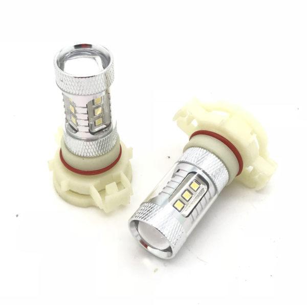 Pair H16 Ps19W Samsung LED Xenon White Bulbs DRL 5052 Psx24W For Audi A3 09-