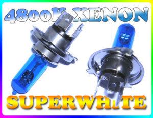 Pair 55/60W H4 Superwhite 4800K Xenon Headlight Bulbs Headlamp Replacement Part