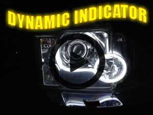 Flexible Lightbar Style DRL LED Daytime Running Lights White DYNAMIC INDICATOR