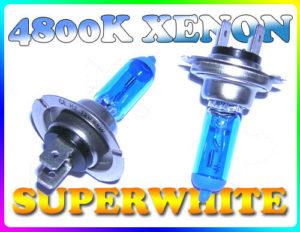 H7 55W Super White 4800K Xenon Headlight Bulbs Pair Headlamp Replacement Part