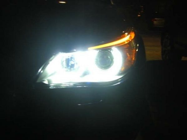 BMW E39 E60 E87 80W Cree LED For BMW Angel Eye Upgrade Bulbs Halo white 6000