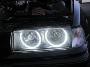 4X Ccfl Angel Eye Eyes Halo Rings Light Lamp Bulbs Kit For BMW E36 3 E38 White