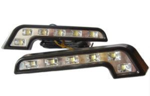 L Shape DRL LED Daytime Running Lights Lamps Indicator For Mercedes Style