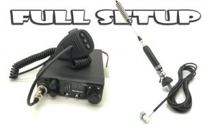 12V FM 40 UK CHANNEL CB RADIO CITIZEN BAND SIRO bolt mount antenna FULL SETUP
