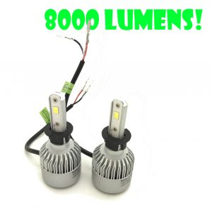 H3 Cob LED Headlight Bulbs Headlamp Kit 8000lm 12-24V Canbus Error Free