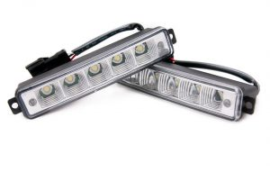 Universal 5 LED X-Treme High Power 15cm DRL Lights Auto Switch E4 & Rl00