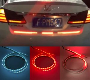 Custom LED RGB TAIL SEQUENTIAL INDICATOR REVERSE light strip retrofit showcar
