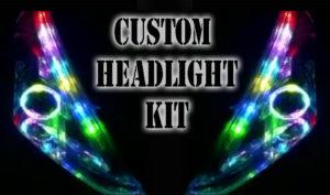 Custom bluetooth LED RGB Headlight Halo Angel eye DRL retrofit showcar