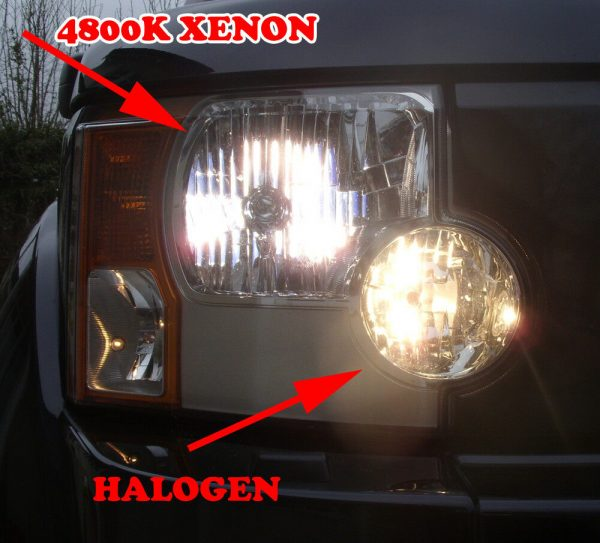Pair 24V 75/70W H4 Super White 4800K Xenon Headlight Bulbs Lorry Truck Hgv