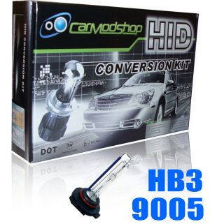 9005 HB3 Xenon HID Conversion Kit Slim Ballast Headlight Bulbs Pair Replacement