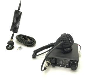12V FM 40 UK CHANNEL CB RADIO CITIZEN BAND TRUCK 4X4 with spring antenna setup