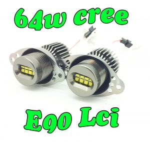 64W CREE Angel eye LED upgrade Bulbs For BMW 3 SERIES E90 E91 LCI Halo ring