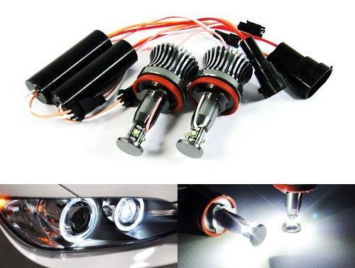 2x Cree LED Angel Eyes Headlight Halo Ring Light H8 Bulb 40W E90 E92 E82 E60 X5 X6 Z4 White