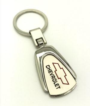 Logo Emblem Key Ring Chain Fob Xmas Keychain Metal Chrome For Chevrolet Matiz