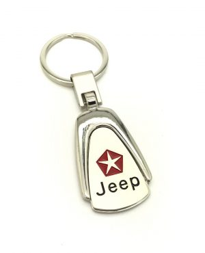 Logo Emblem Key Ring Chain Fob Xmas Gift Keychain Metal Chrome For Jeep Wrangler