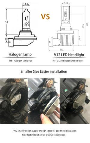 Universal 5 LED 19cm DRL Lights Daytime Running lights e4 mark