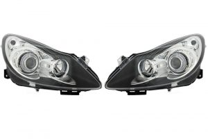 Aftermarket RHD LHD Front Angel Eye Headlights Set Halogen H1 H7 For Vauxhall