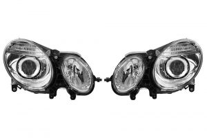 Aftermarket RHD Front Headlight Set Halogen H7 PY21W W5W For Mercedes E-CLASS