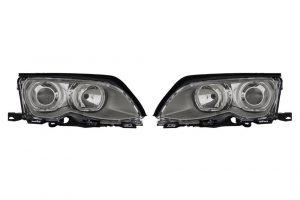 Aftermarket RHD LHD Front Angel Eye Headlights Set Halogen/LED H7 LED For BMW 3