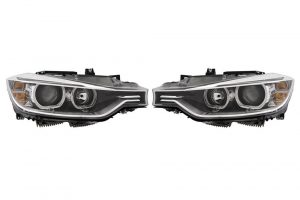 Aftermarket LHD Front Headlights Set Halogen/LED H7 PY21W LED For BMW 3 F30 F80