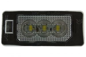 RHD LHD Rear Right Left Number Plate Lights Set LED Fits Audi A1 05.10-On