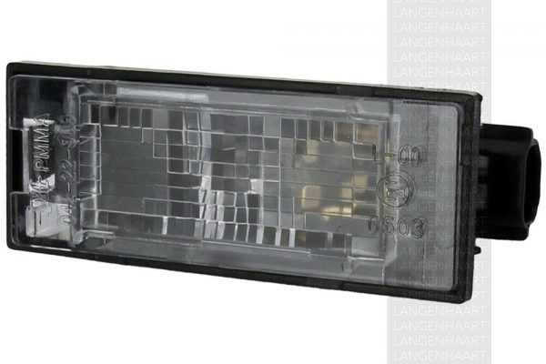 RHD LHD Rear Number Plate Light x1 Halogen Spare Fits Peugeot 407 05.04-On