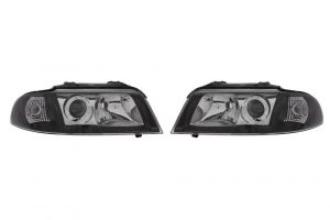 RHD LHD Front Right Left Headlights Set Halogen Fits Audi A4 11.94-09.01