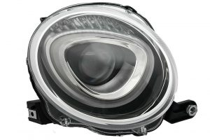 RHD Front Right Headlight x1 Halogen Replacement Spare Fits Fiat 500 10.07-On
