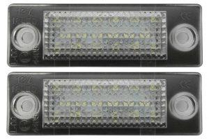 Aftermarket RHD LHD Rear Number Plate Lights Set LED For Skoda SUPERB 3U4