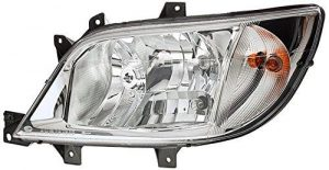 HELLA 1LH 246 047-081 Halogen Headlight, Right, Without bend lighting, with bulbs, with motor for headlamp levelling