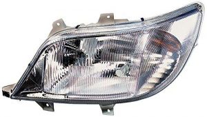 HELLA 1LH 008 010-041 Halogen Headlight, Right, Without bend lighting, with bulbs, with motor for headlamp levelling