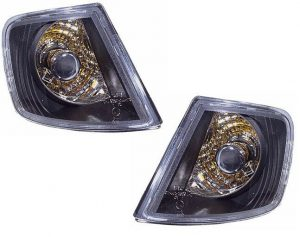 For Audi A3 96-00 Smoked Corner Indicators Detector Replacement Part Lamps Pair