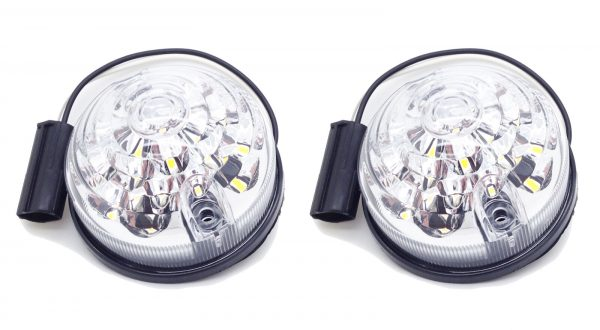 For Land Rover Defender Series 88 90 109 110 LED Clear Rear Indicator Lamp Light