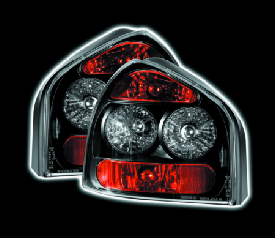 Audi A3 1995 -2002 Black For Lexus Rear Tail Lights Lamps Indicator Back