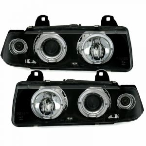 Black Angel Eye Headlights Indicators For BMW 3-Series E36 Coupe Cabrio 92-98